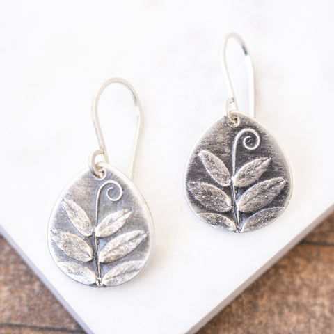 Vetch Tendril Teardrop Earrings