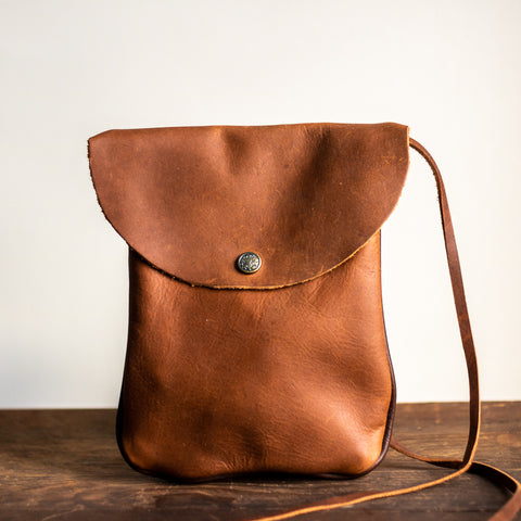 Victor Purse | Saddle Brown