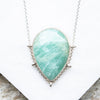 Amazonite Light Teardrop Necklace