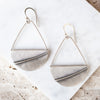 Seagull Feather Basket Earrings
