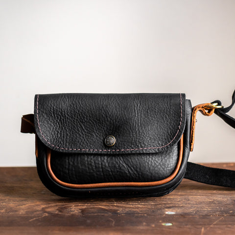 Convertible Crossbody | Black Leather