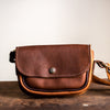 Convertible Crossbody | Saddle Brown Leather