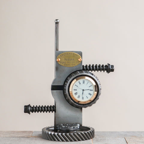 Abstract Ford Gears Desk Clock