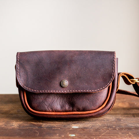 Convertible Crossbody | Dark Brown Leather