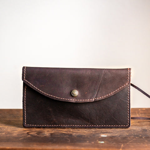 Envelope Clutch | Dark Brown