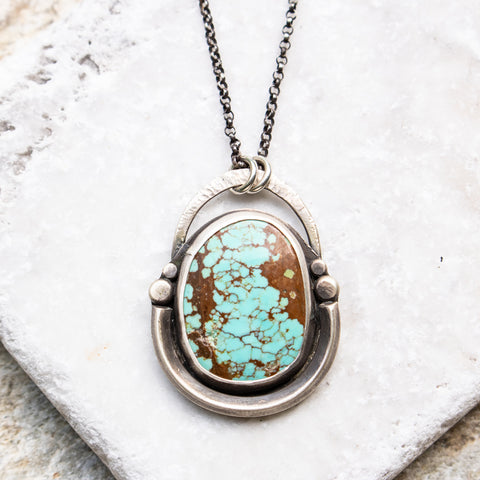 no.8 Turquoise + Dots Necklace