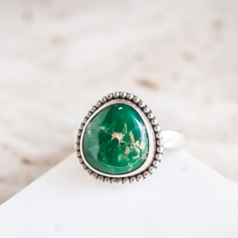 Size 8.75 | Utah Variscite Beaded Ring