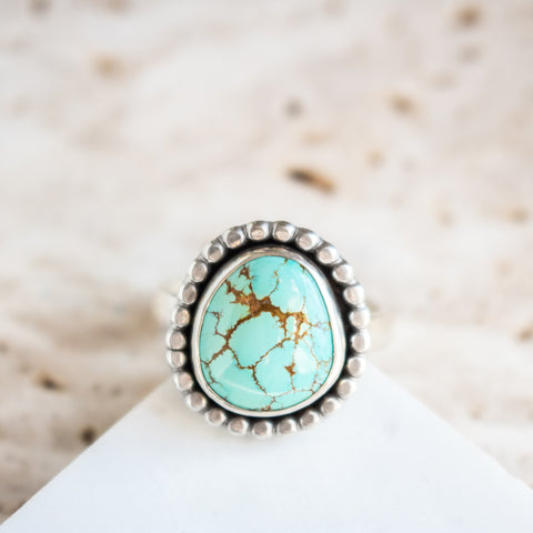 Size 7.5 | Baja Turquoise Beaded Ring
