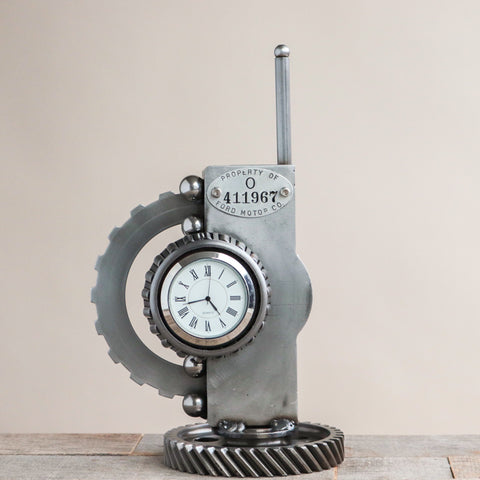 Abstract Gears Desk Clock
