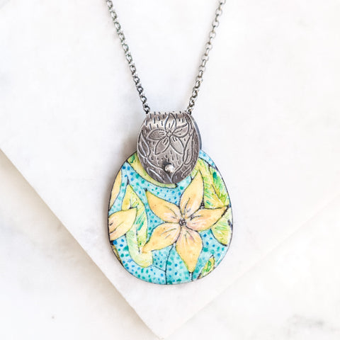 Citron Flower Necklace
