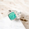 Size 9 | Chrysocolla Birch Ring