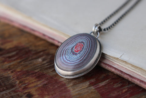 Fordite Necklace (20 in) - Artisan's Bench