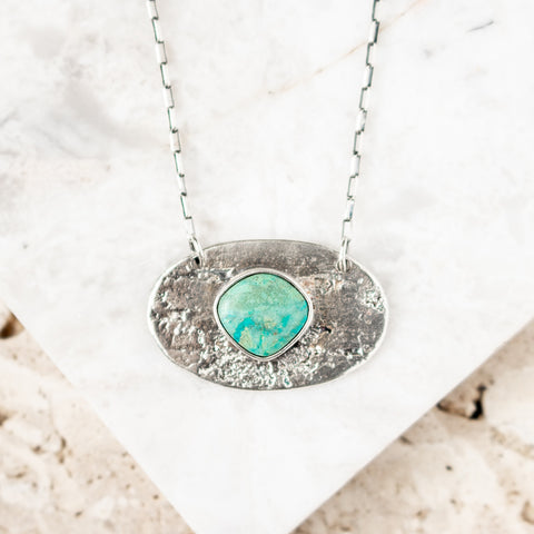 Chrysocolla Birch Necklace