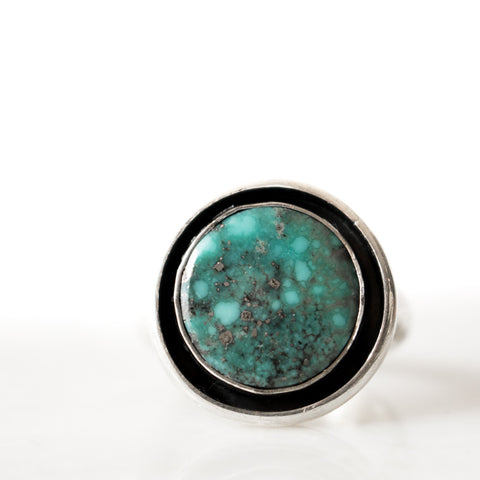 Turquoise Full Moon Shadowbox Ring