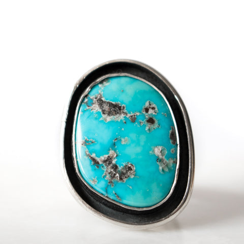 Turquoise Freeform Shadowbox Ring