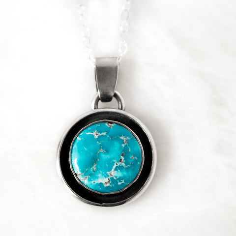 Turquoise Full Moon Necklace