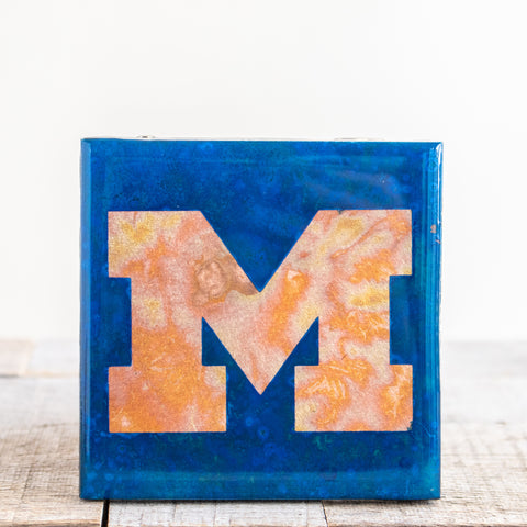 UofM Copper Tile/Coaster | 4x4