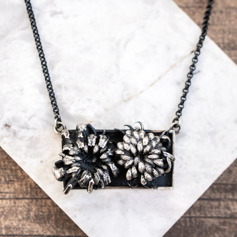 Framed Wildflowers Necklace