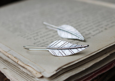 Gypsy Feather Silver Earrings - Artisan's Bench - 1