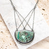 Shattuckite in Quartz Multi-Chain Necklace