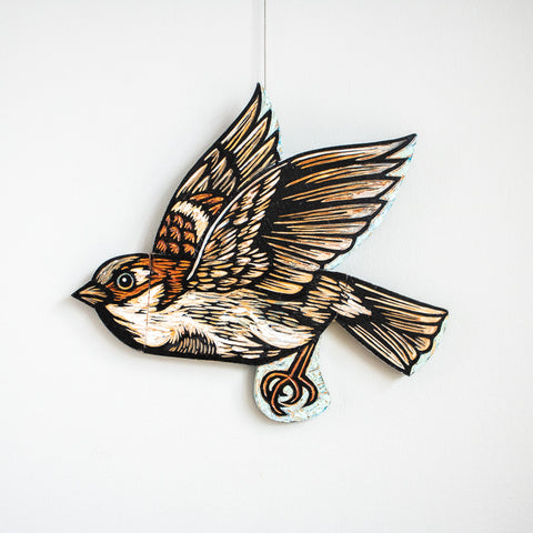 Sparrow | Hand Carved in Wood