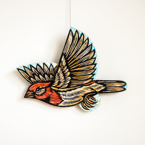 House Finch | Hand Carved in Wood