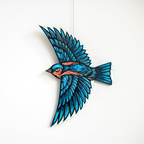 Bluebird | Hand Carved in Wood