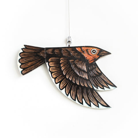 Cowbird | Hand Carved in Wood