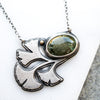 Prehnite & Gingko Necklace - Artisan's Bench