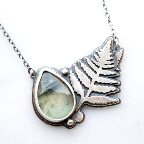 Prehnite & Fern Necklace