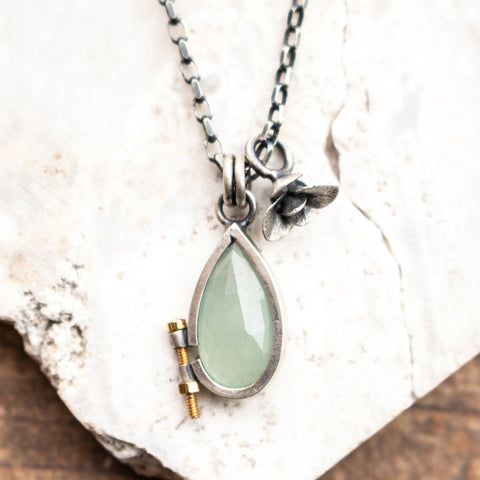Bolted Aquamarine Necklace | Small