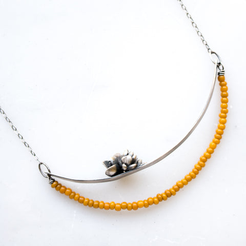 Yellow Succulent Swing Necklace