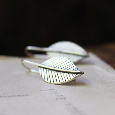 Grow Leaf Earrings - Artisan's Bench
