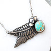 Turquoise & Fern Necklace - Artisan's Bench