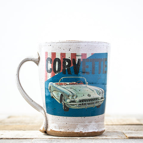 Corvette Red White Blue Mug