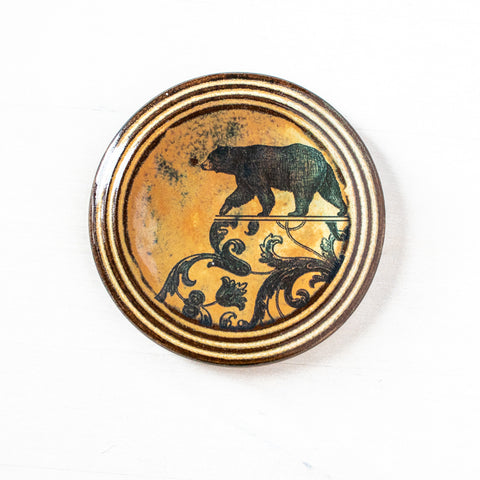 Right Bear | Round Wall Tile
