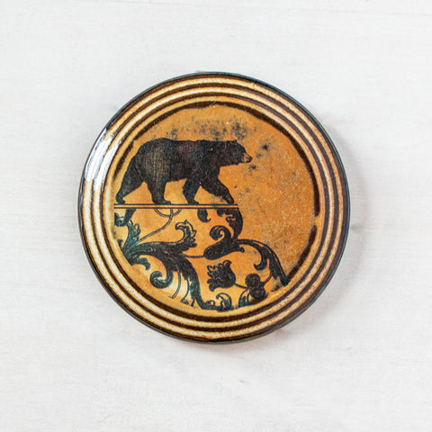 Left Bear | Round Wall Tile