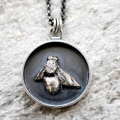 Framed Cast Bee Necklace - Artisan's Bench