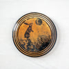 Left Hare & Moon | Round Wall Tile