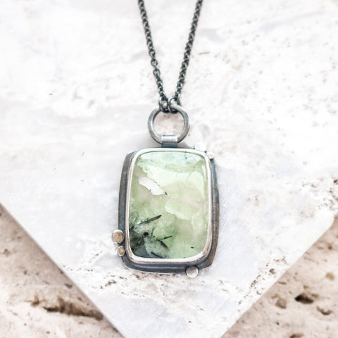 Prehnite Galaxy Balance Necklace