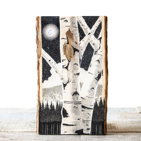 Birch Knot  | Drawing on Wood