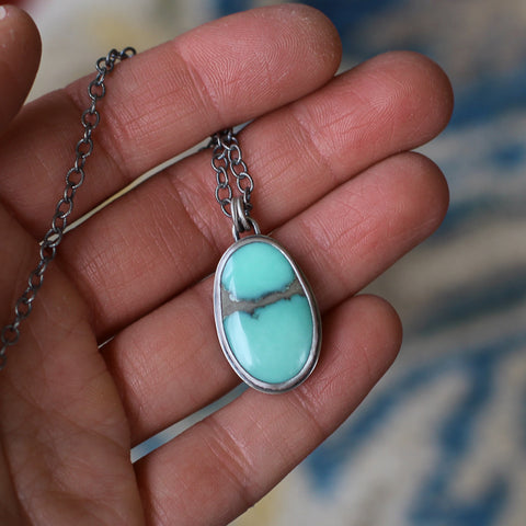 Clear Your Path Turquoise Necklace