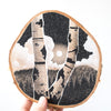 Moon Framed By Birch Trees | Drawing on Wood