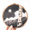 Moonlight on Birch Trees | Drawing on Wood