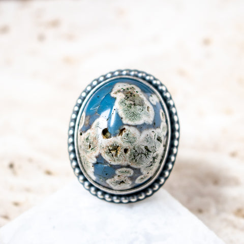 Size 8 | Leland Blue Oval Ring