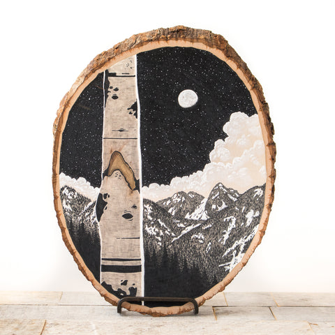 Moonrise | Drawing on Wood