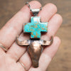 Kingman Turquoise Bull & Plus Necklace