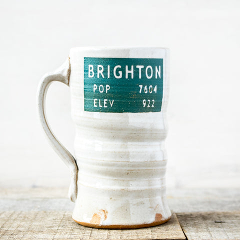 Brighton Population Elevation Mug