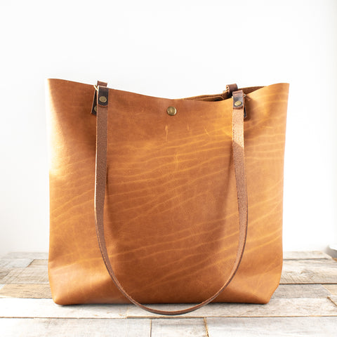 Medium Leather Minimalist | Caramel