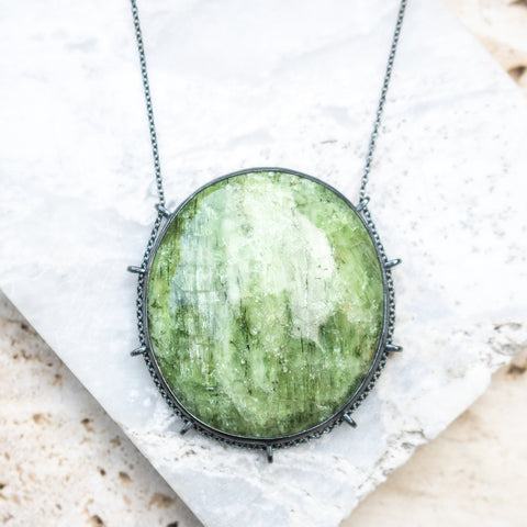 Light Green Apatite Necklace
